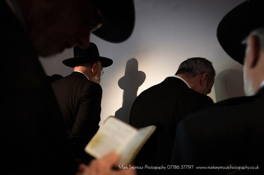 Jewish men praying