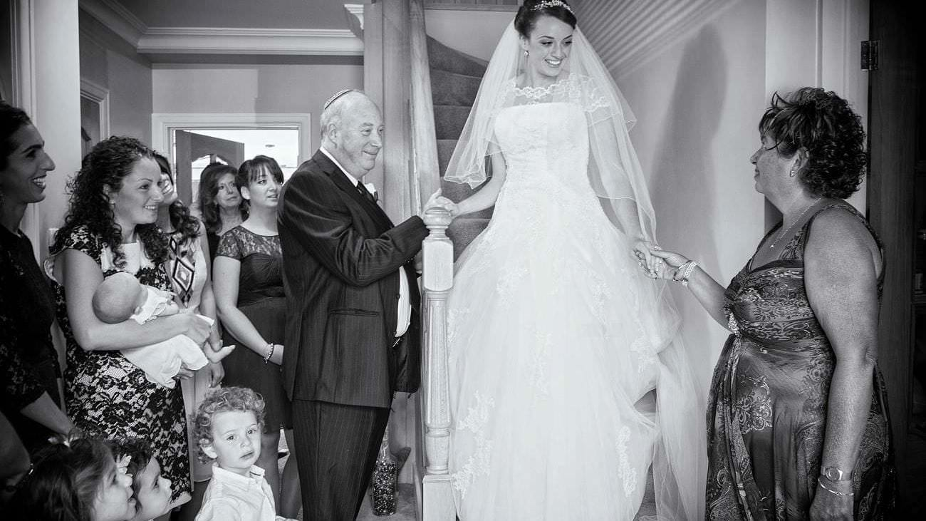 Jewish Bride with her Family