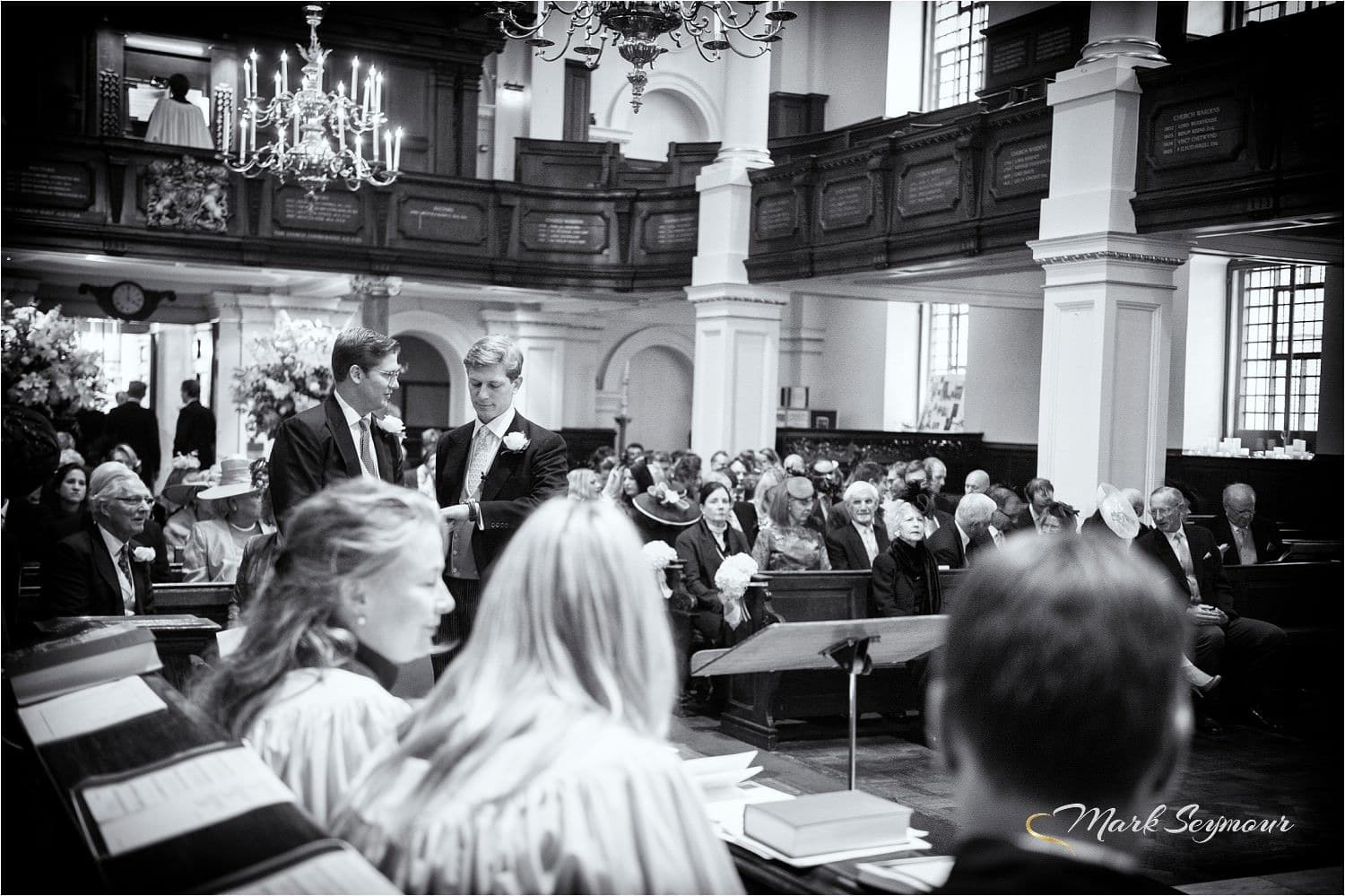 A london wedding in church