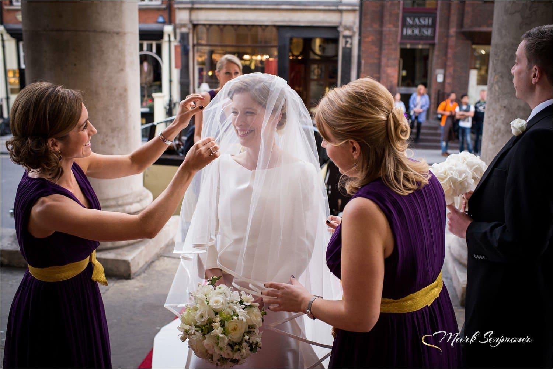 Bride at London church