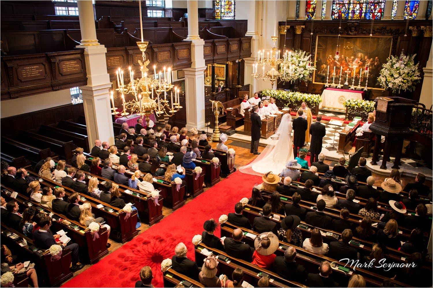 A full church wedding