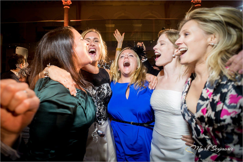 Party at a Royal Opera House wedding