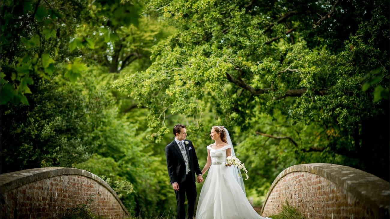 Bride and Groom at The Four Seasons Hampshire