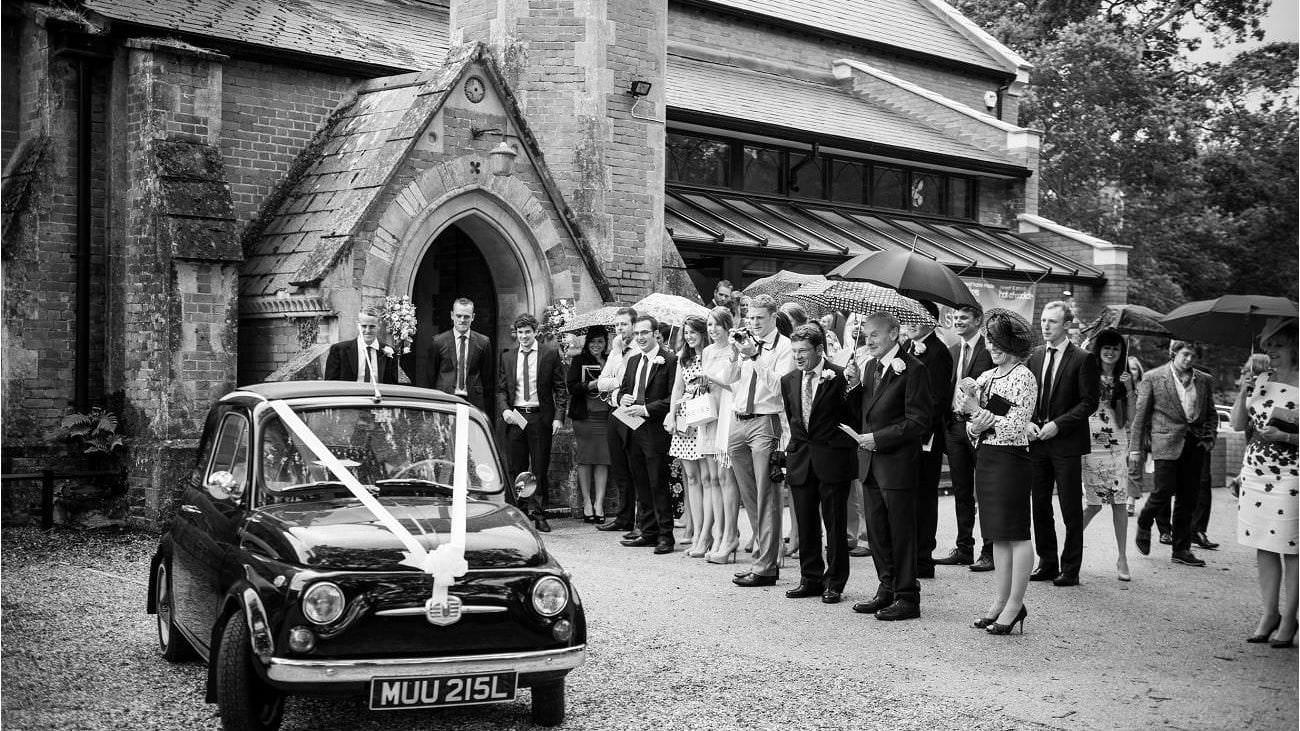Fiat 500 Bridal car