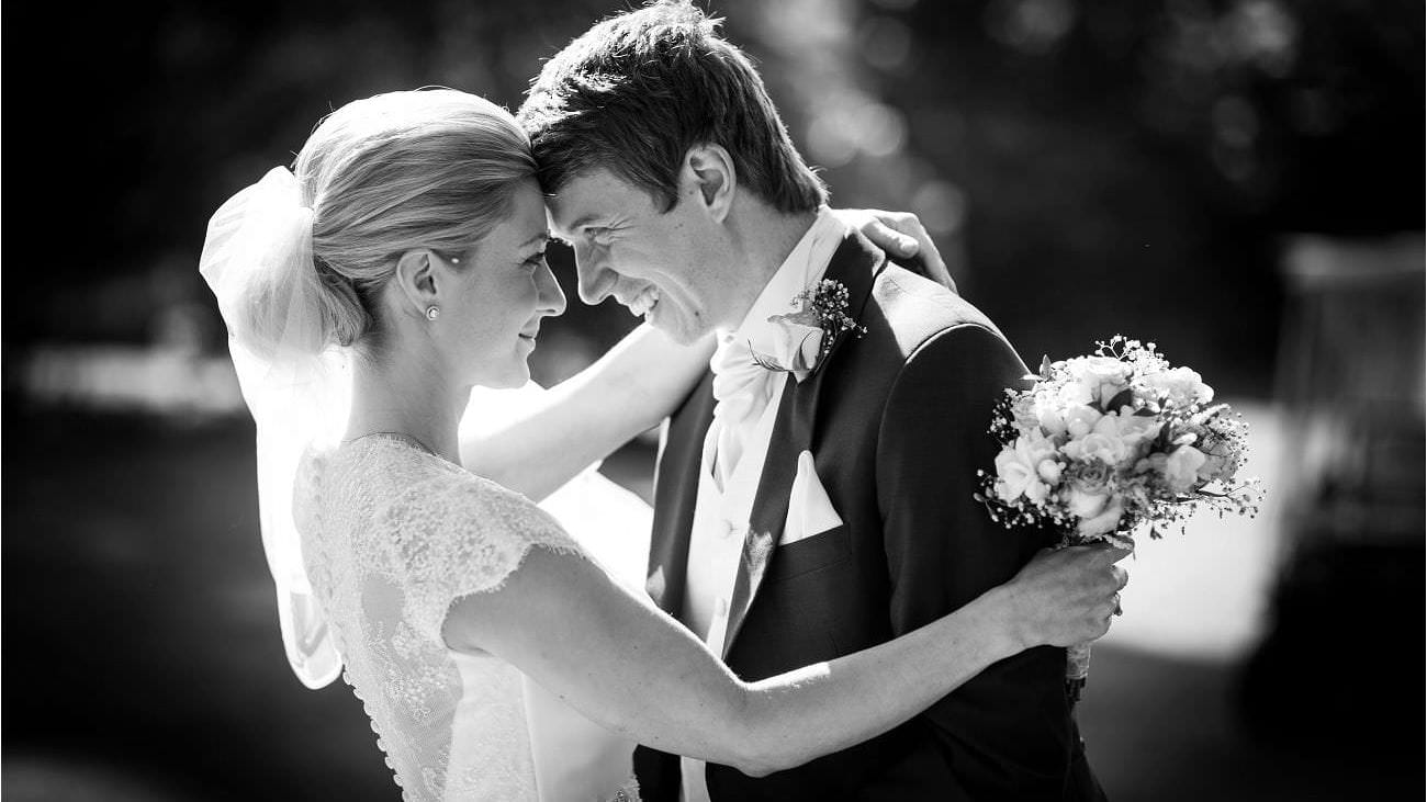 Wedding ouple just married at Northcote Park
