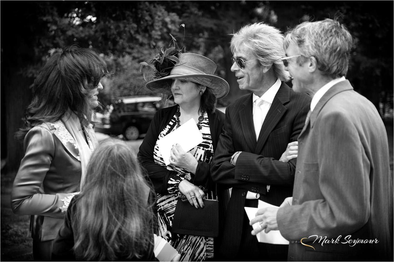 mingling wedding guests