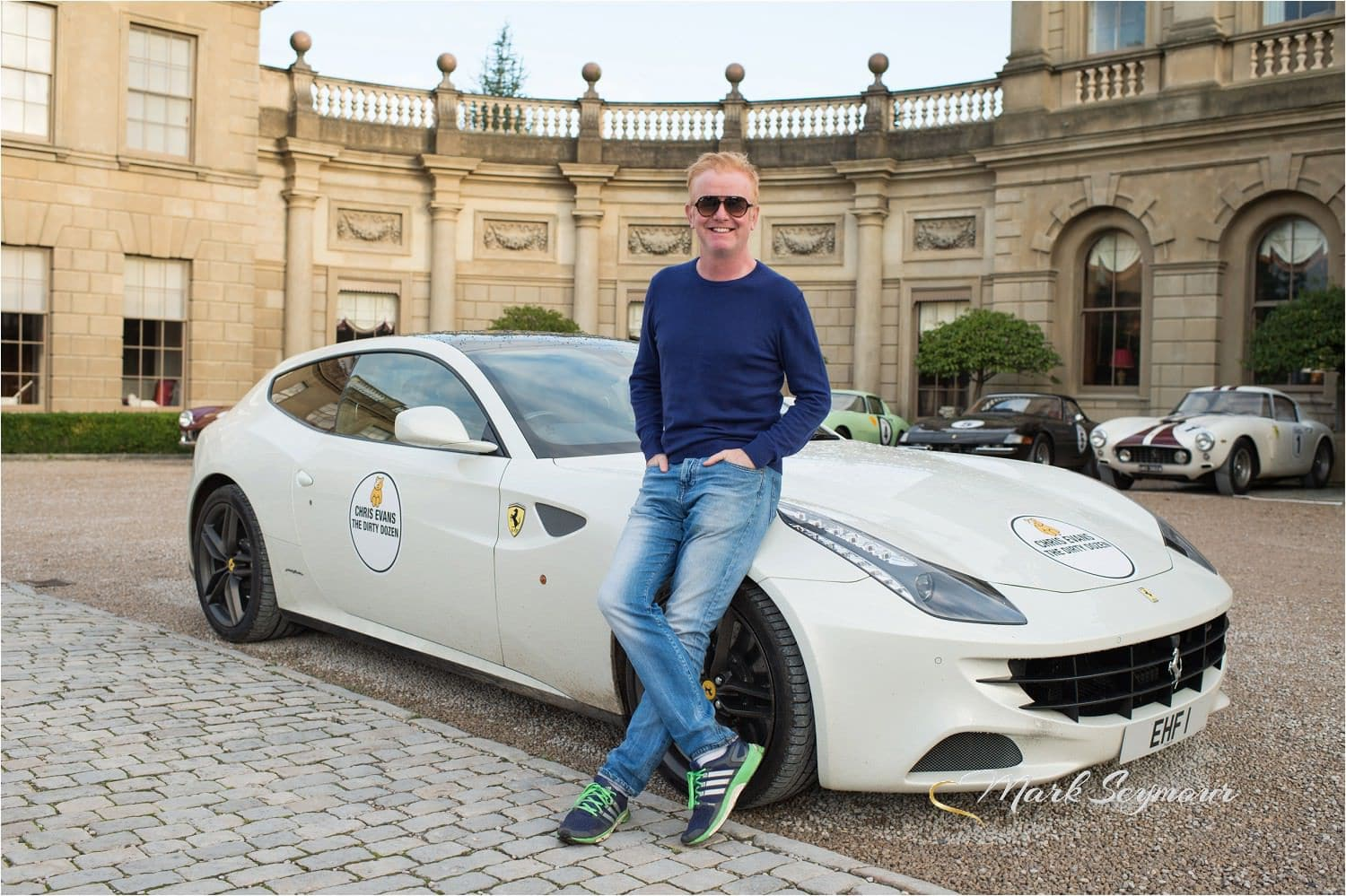 Chris Evans with Ferrari at Cliveden House
