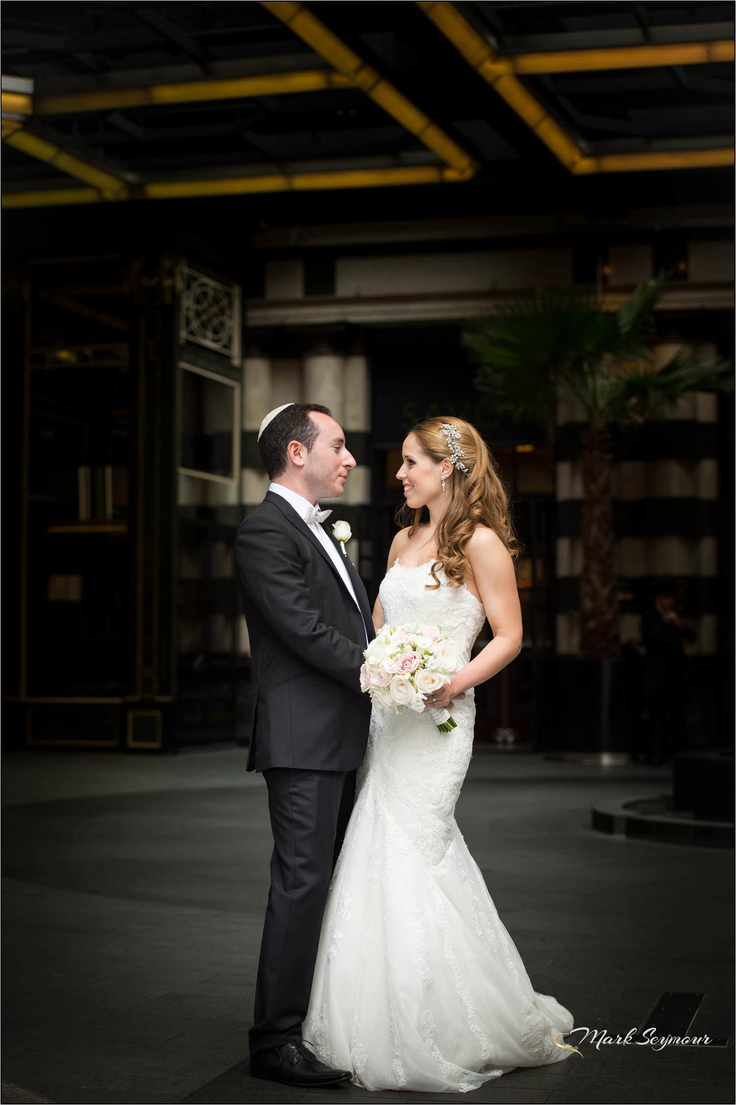 Bride and Groom at The Savoy