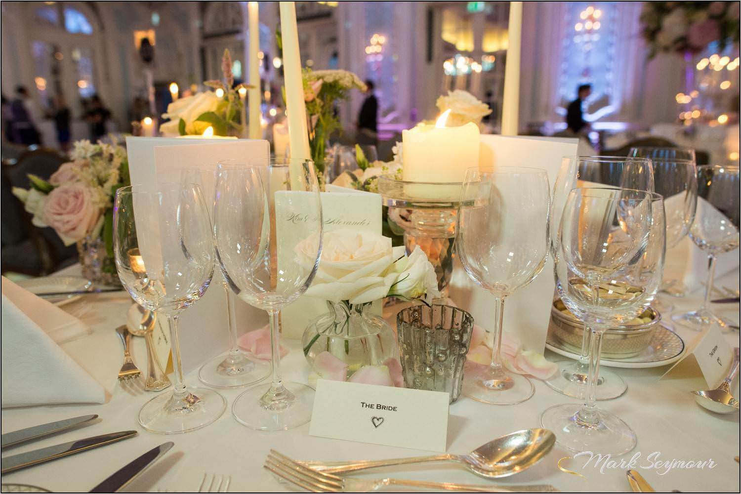 Brides table setting