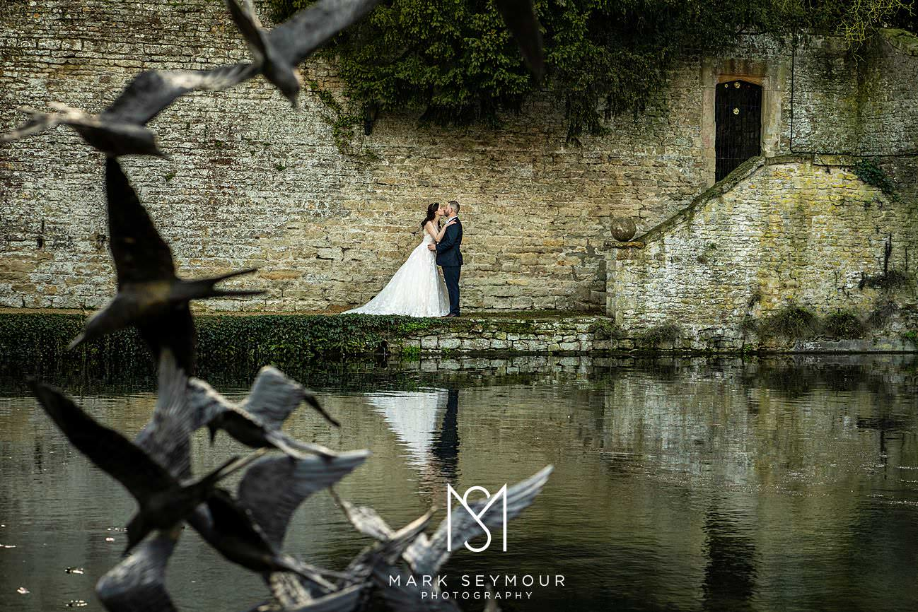 Beauty photo of the bride and Groom at Le Manoir