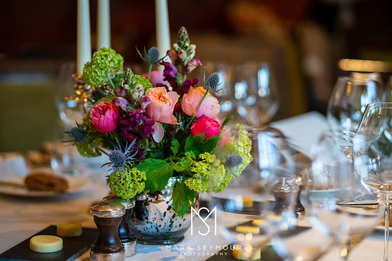 Wedding table at Le Manoir
