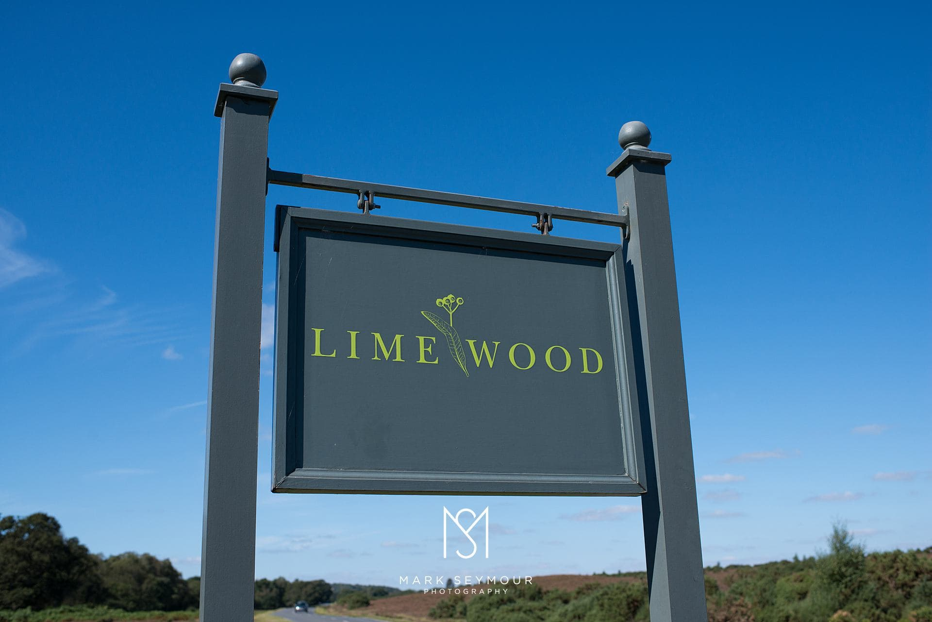 The Limewood hotel sign