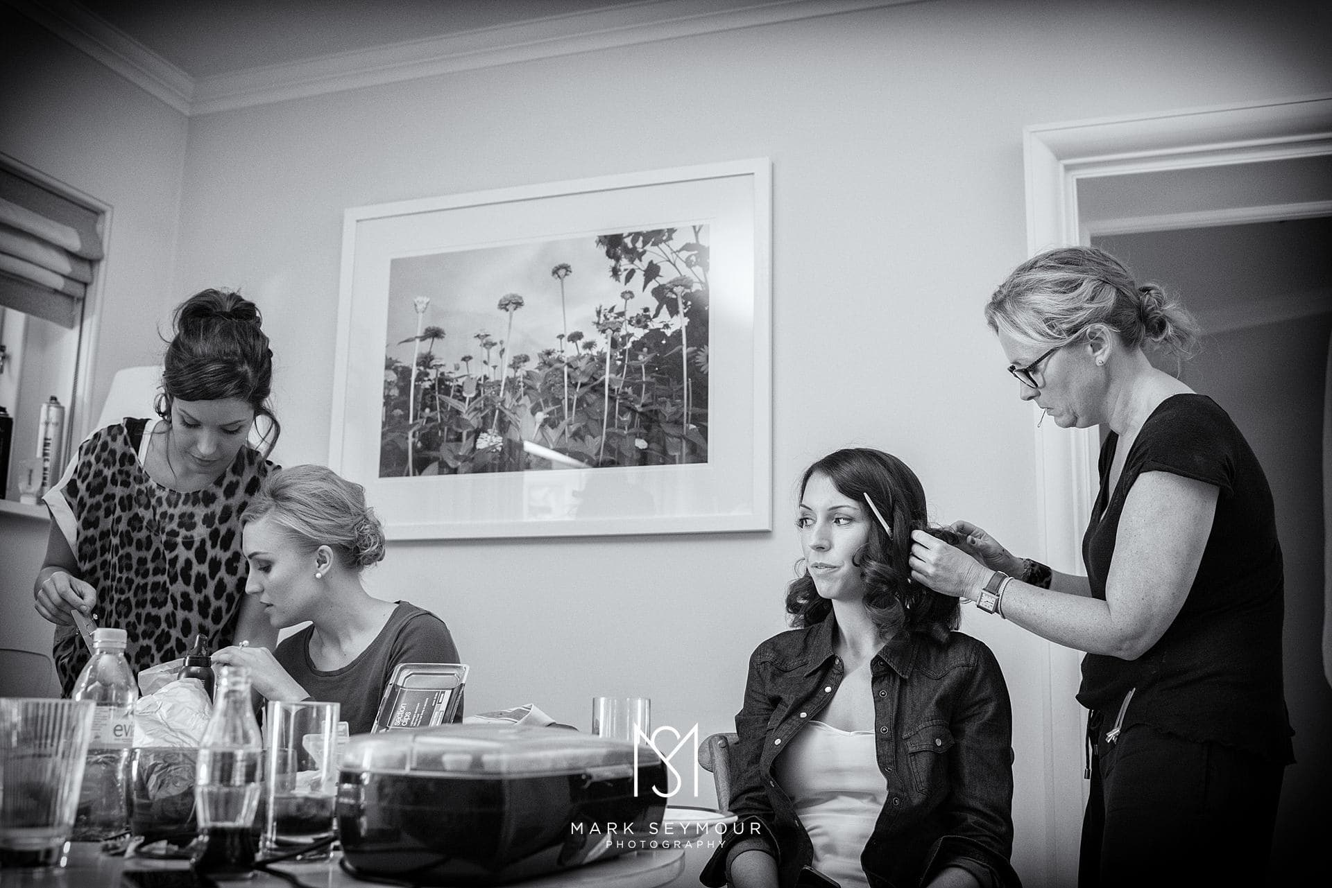 Bride getting ready at The Limewood Hotel