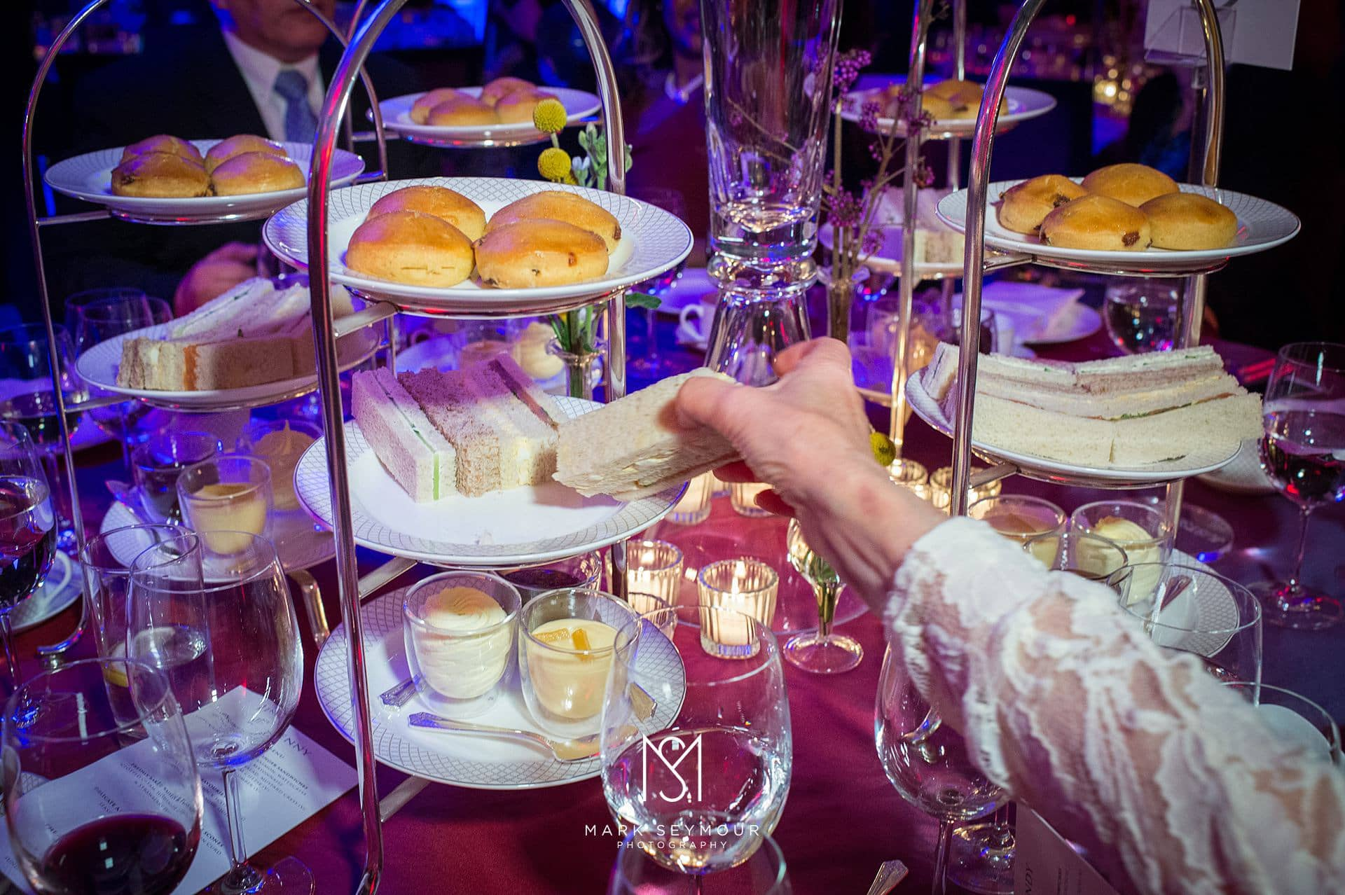 Afternoon tea at The Savoy wedding