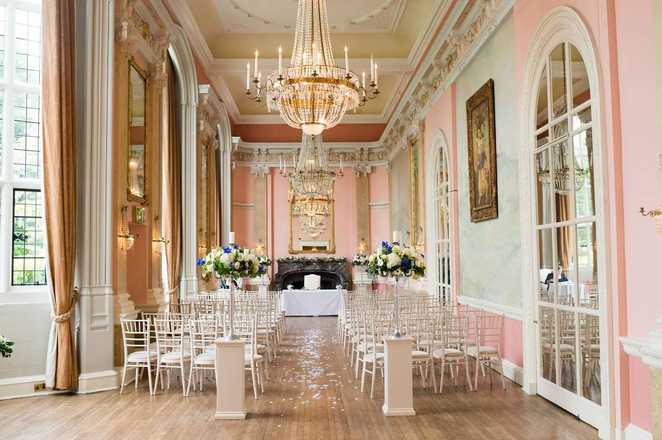 Danesfield House wedding room
