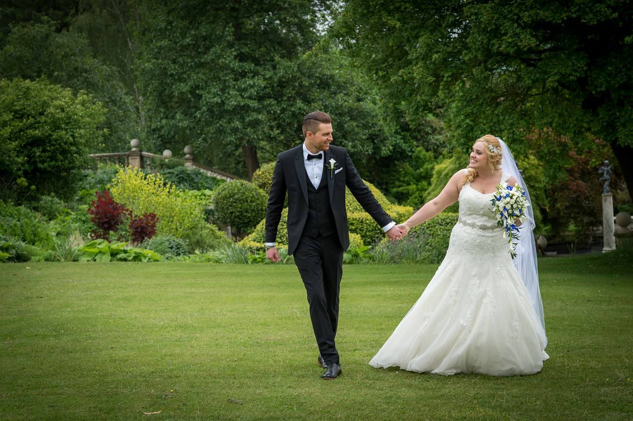 Bride & Groom at Danesfield House