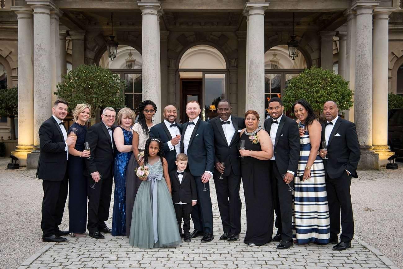 wedding group utisde Cliveden House