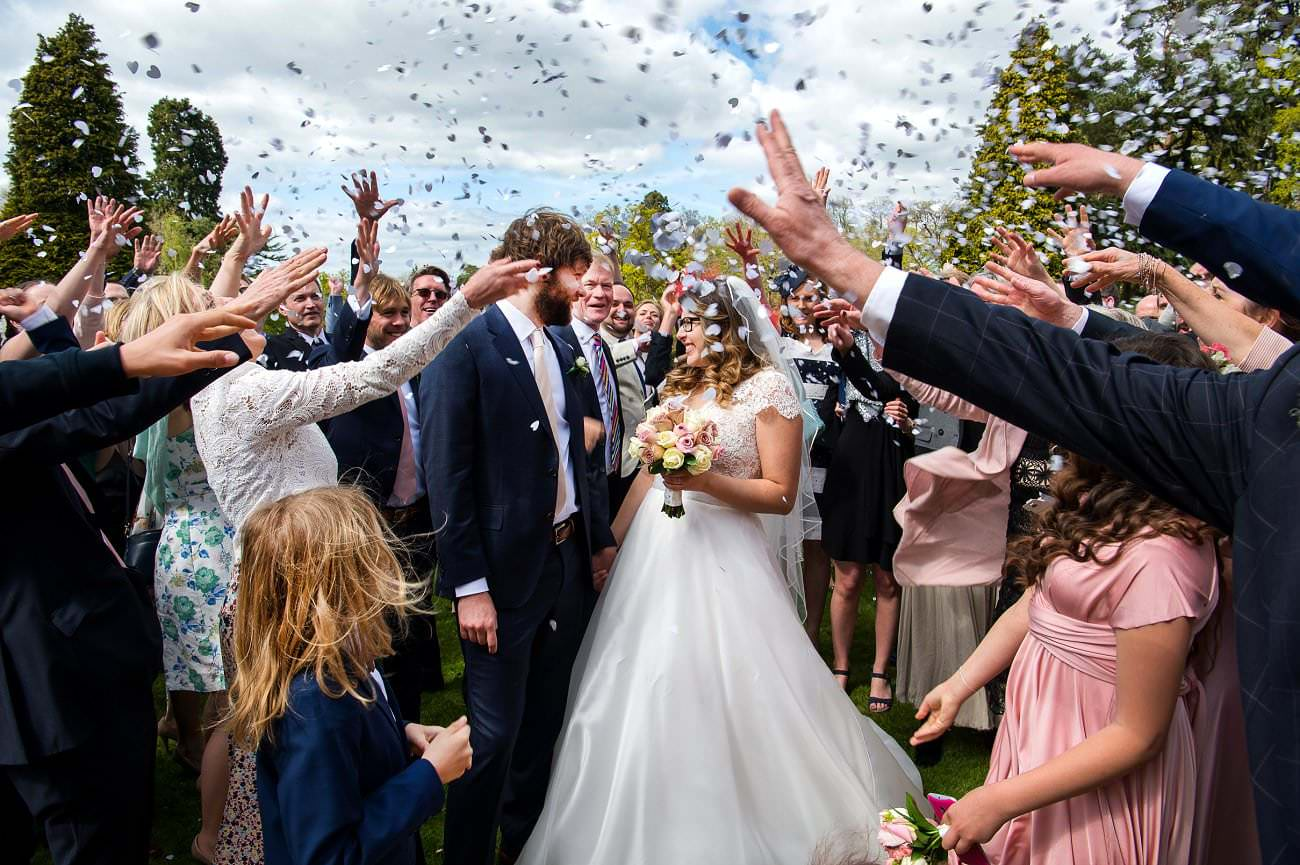 Confetti at Tylney Hall
