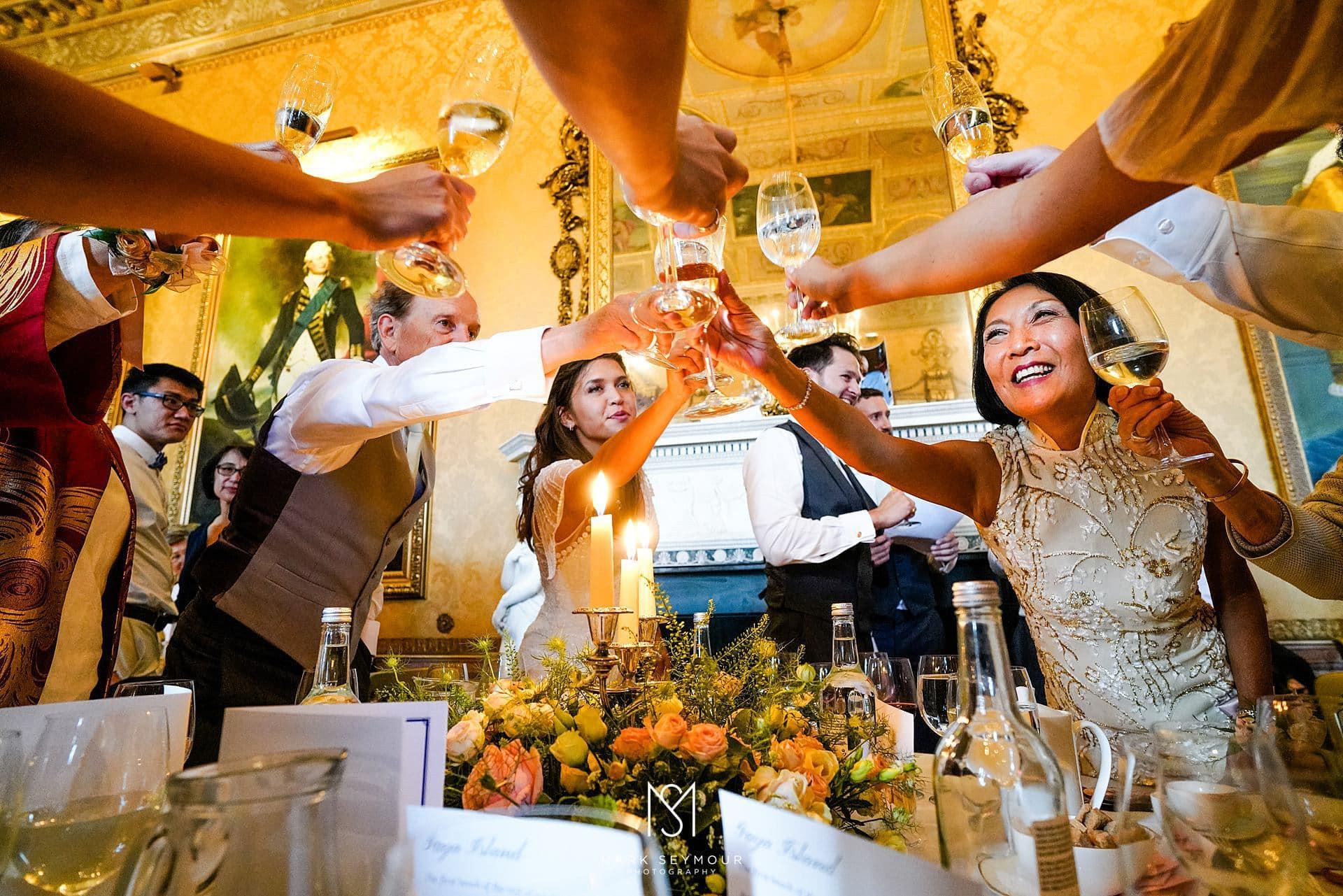 Toasting after a wedding speech