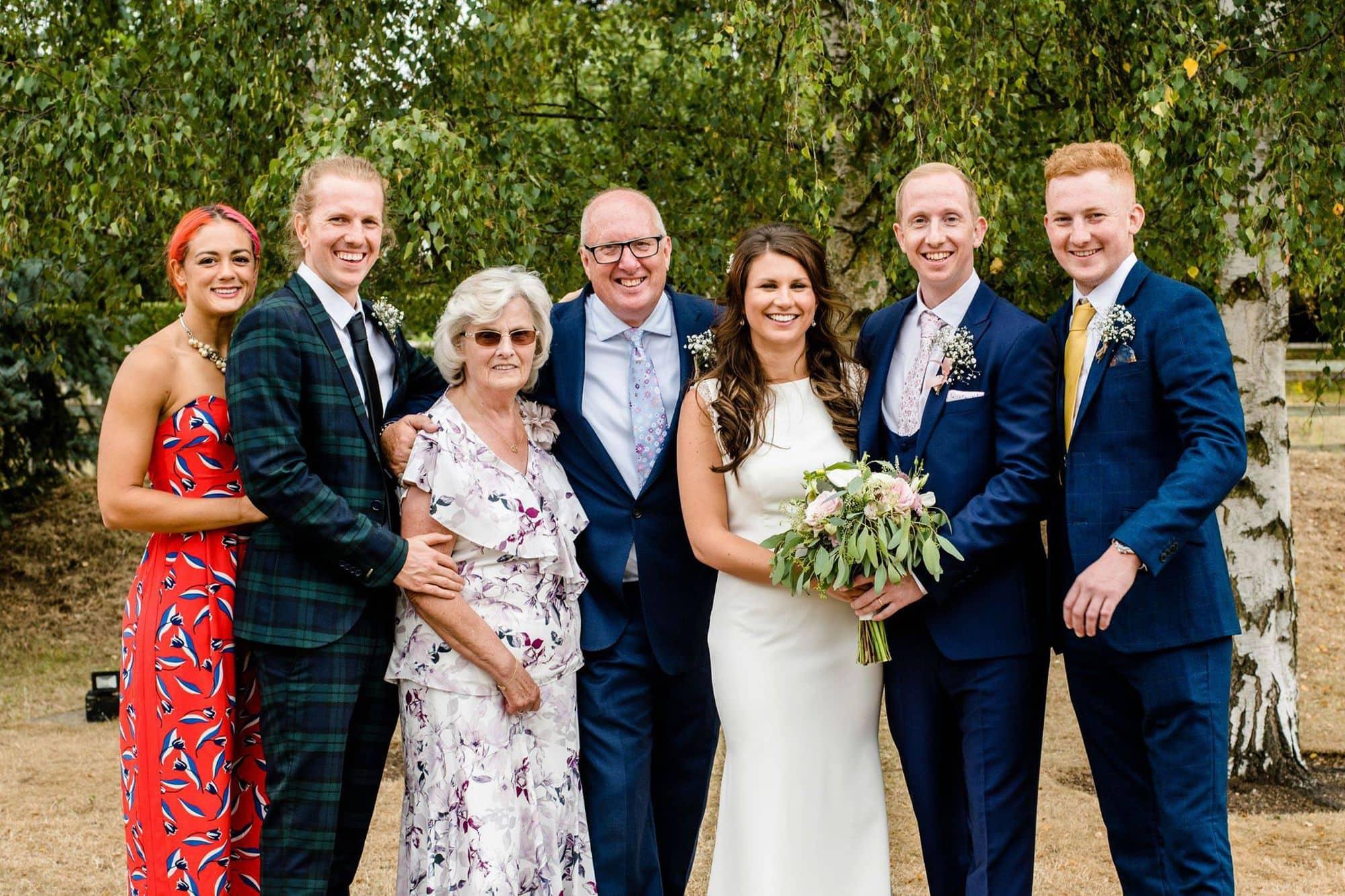 A family wedding photograph