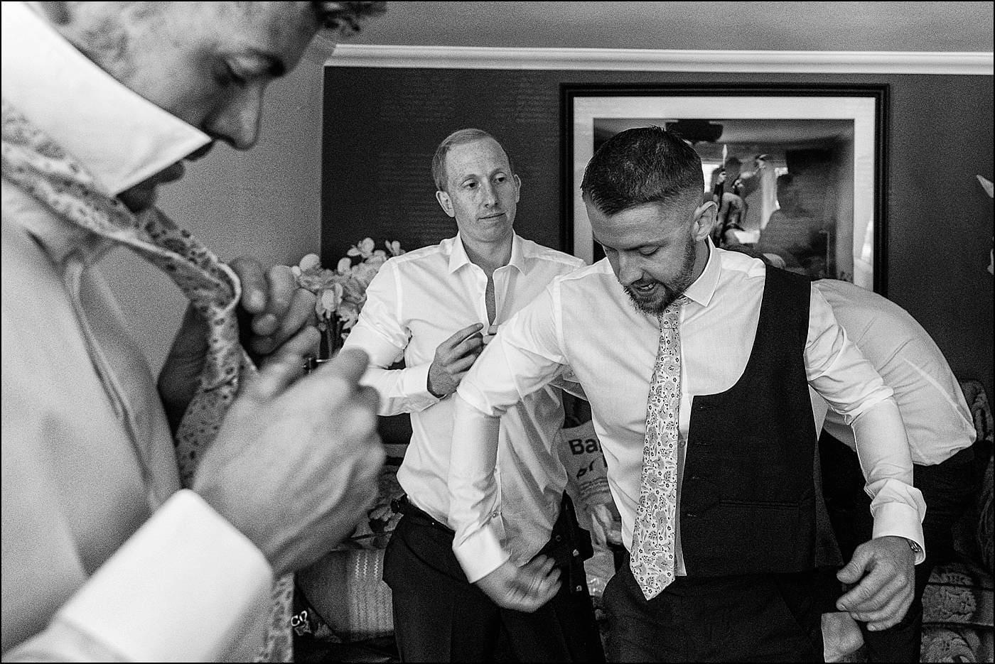 Grroms men getting ready