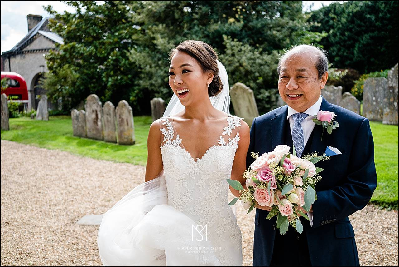 Ramster hall Bride with Dad