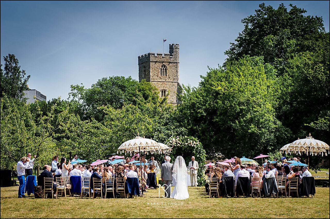 Fulham Palace wedding ceremony