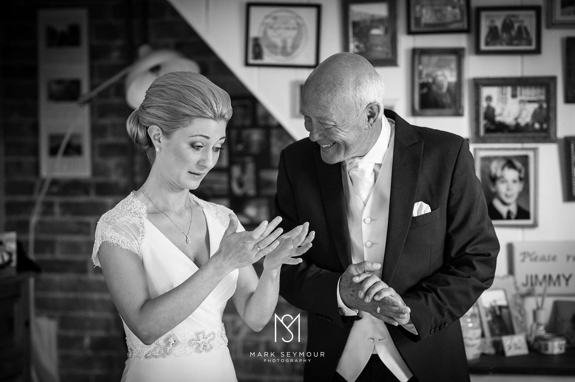 Bride with dad emotions