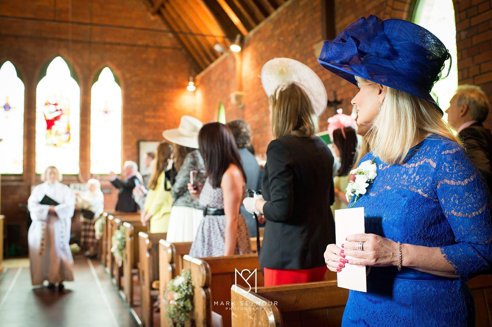 Brides mum in Church