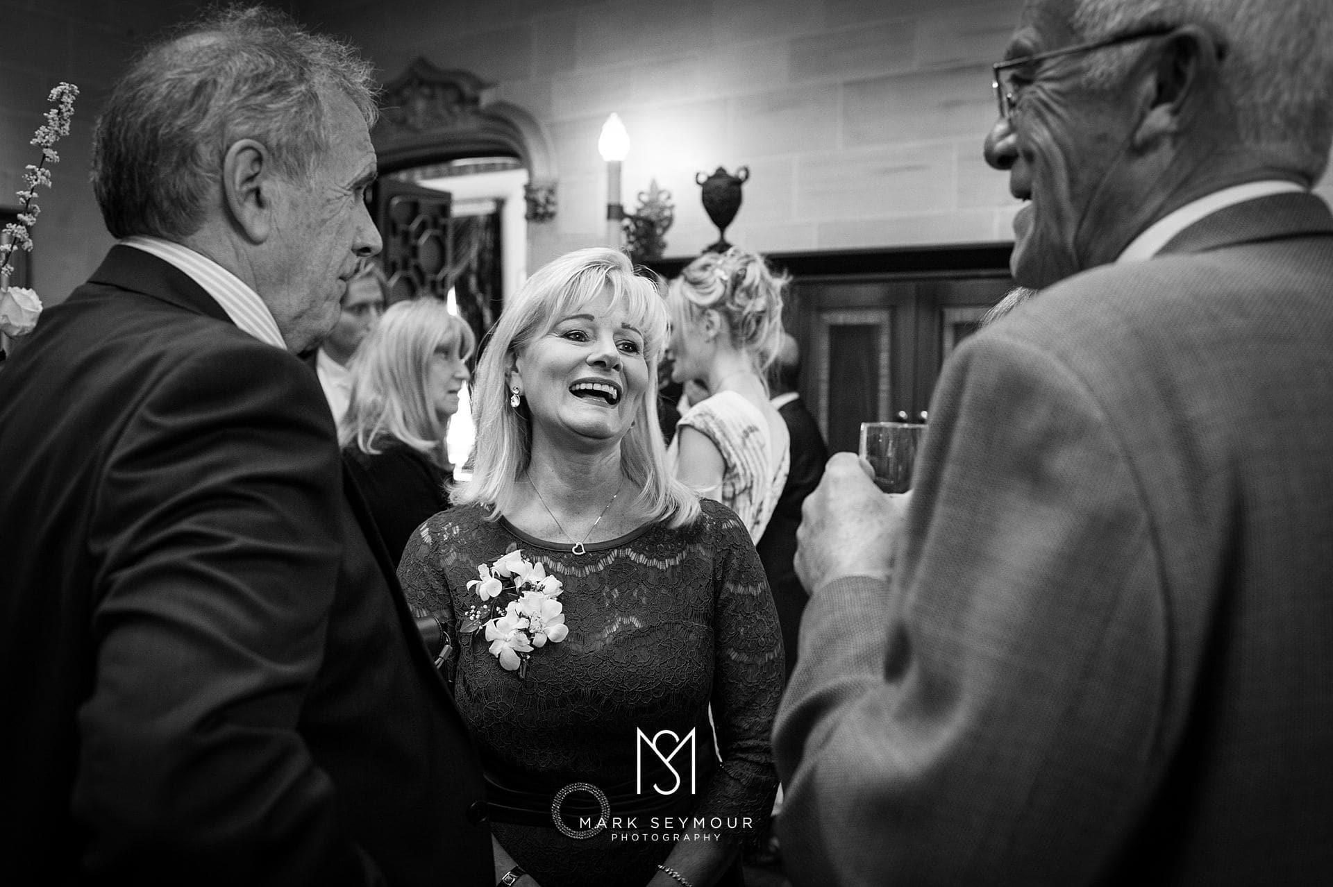 Brides mum at wedding reception