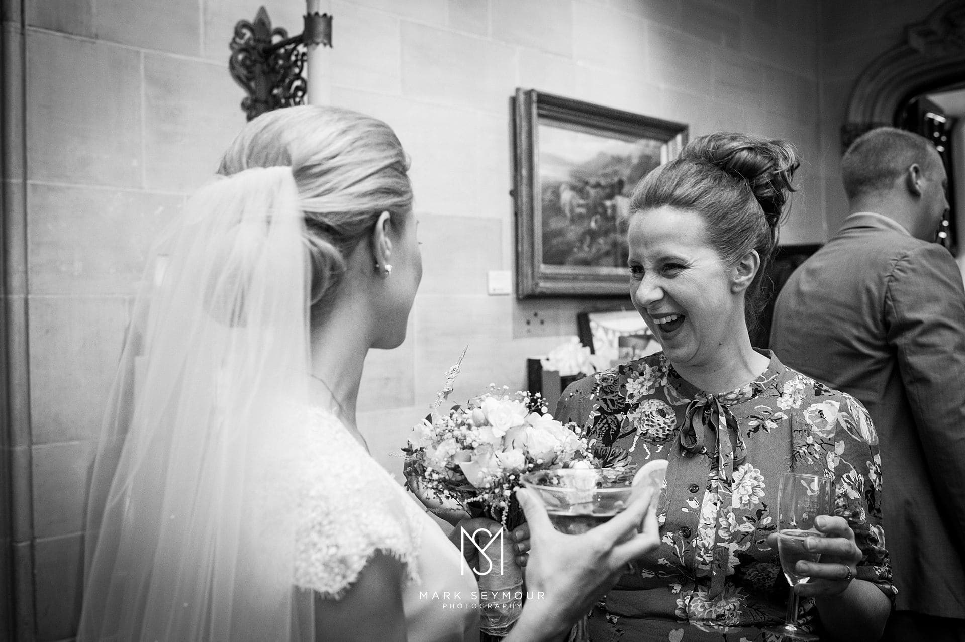 Bride and Friend at Wedding