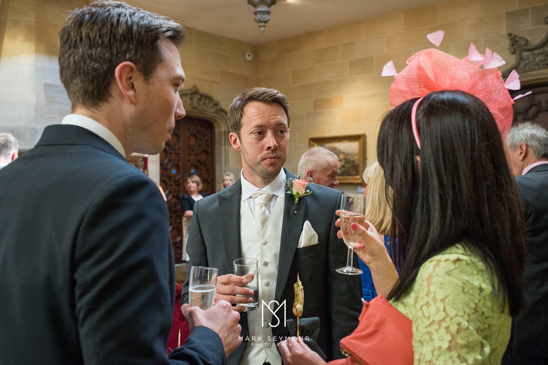 Best man at wedding reception