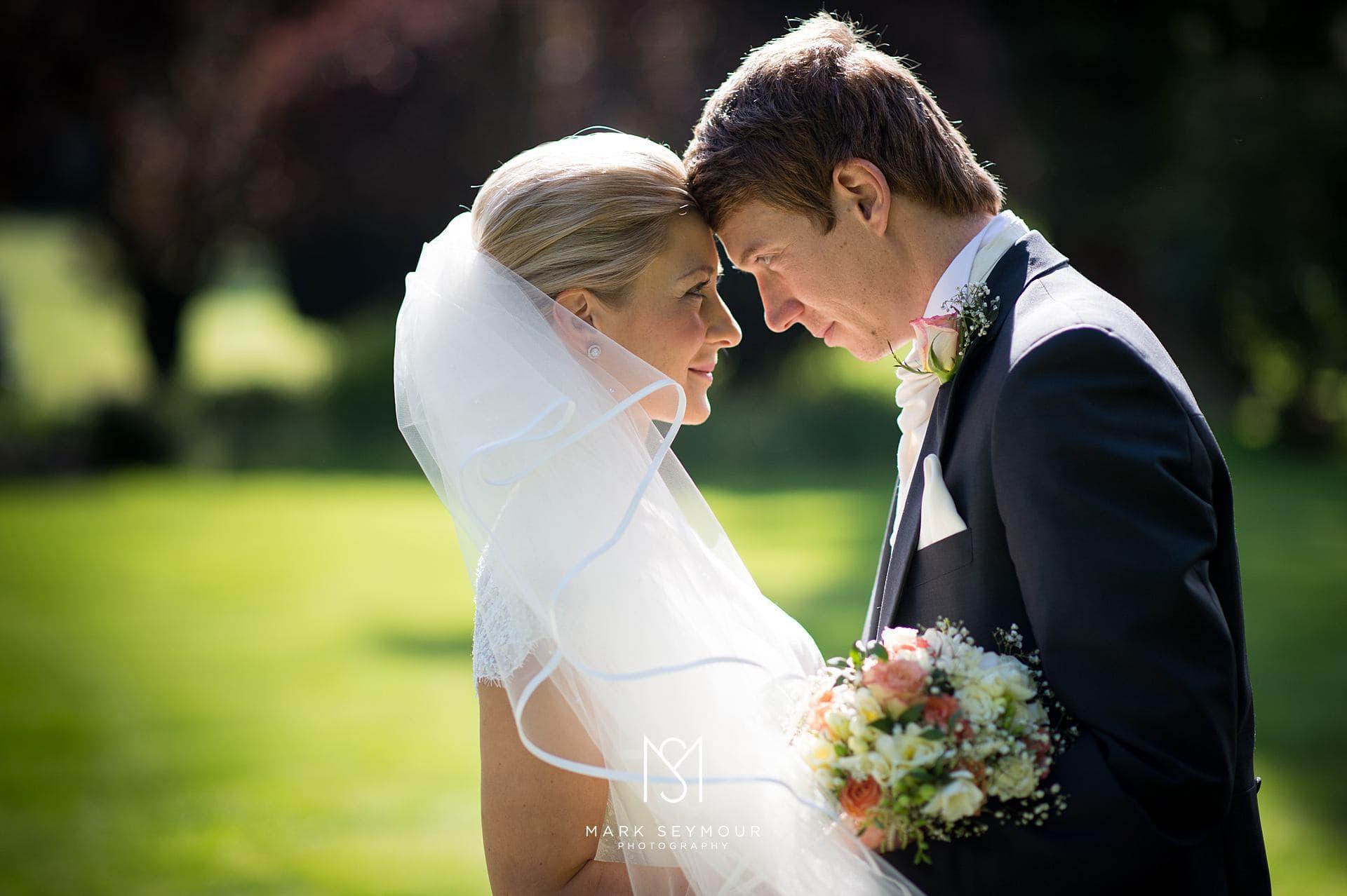 Bride and Groom natural portrait