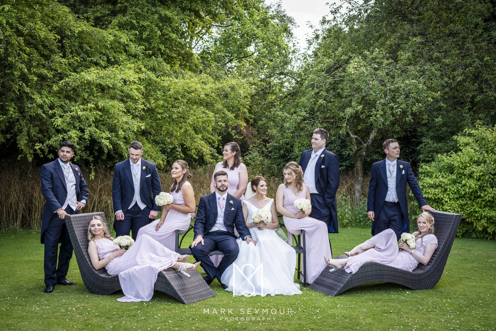 Wedding party group