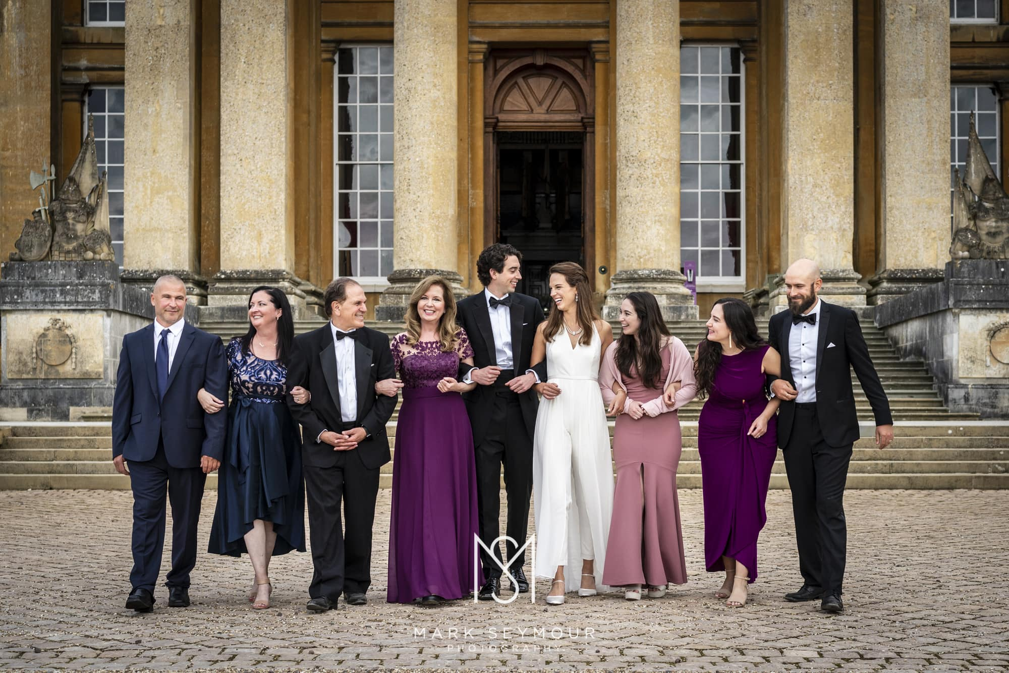 Wedding guests at Blenheim