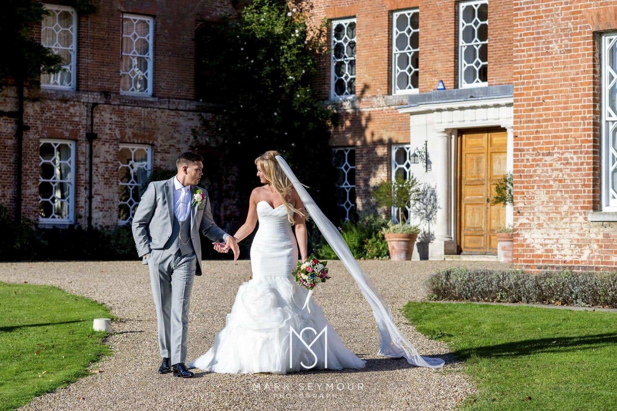 Bride and Groom at Braxted Park